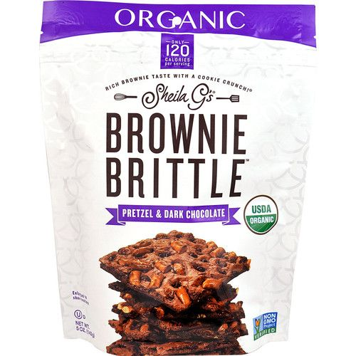 Sheila G's Organic Brownie Brittle™ Pretzel & Dark Chocolate -- 5 oz