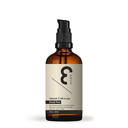 Xceler8 Skin Vitamin C All in One Facial Peel 2 fl oz (60 ml)