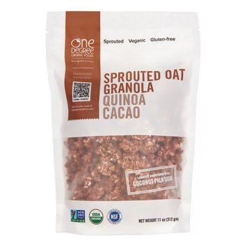 One Degree Organic Foods Sprouted Oat Granola, Quinoa Cacao, 11 Oz