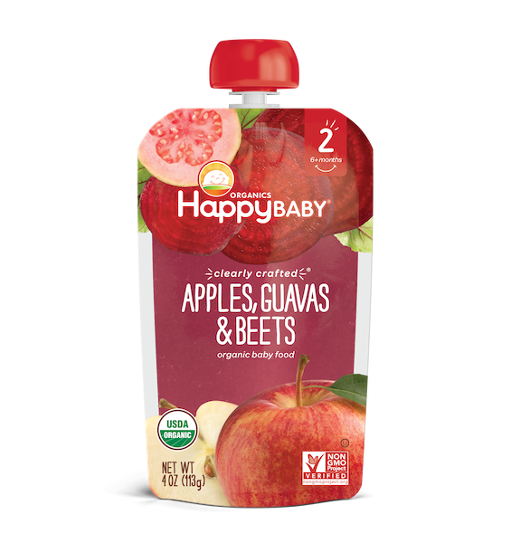 Happy Baby® Organics Clearly Crafted Apples, Guavas & Beets
