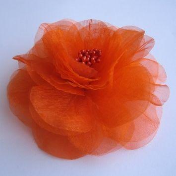 Sara Monica Flower Hair Clip and Pin Beauty_Orange