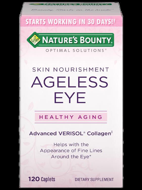 Natures Bounty Optimal Solutions Ageless Eye Advanced VERISOL Collagen 120