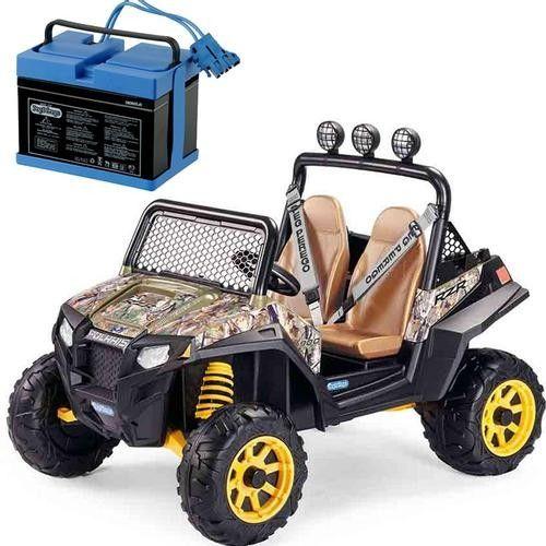 Peg Perego Polaris RZR 900 With 12 Volt Battery Charger - Camo
