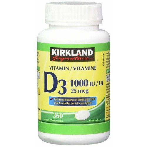 Kirkland Signature Vitamin D3 1000 IU, 360 Tablets