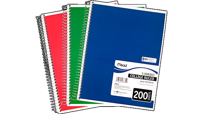 Mead Spiral Notebook, 06780