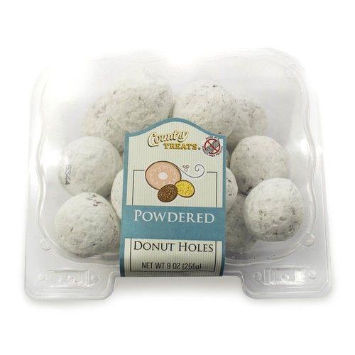 Maplehurst Bakeries Powdered Sugar Cake Donut Holes, 9 oz (frozen)
