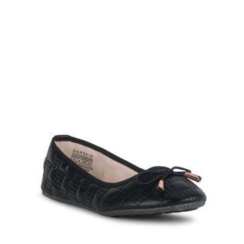 Danskin - DANSKIN Women's Adore Quilted Ballerina Flats, Wide Width [name: shoe_size value: shoe_size-7]