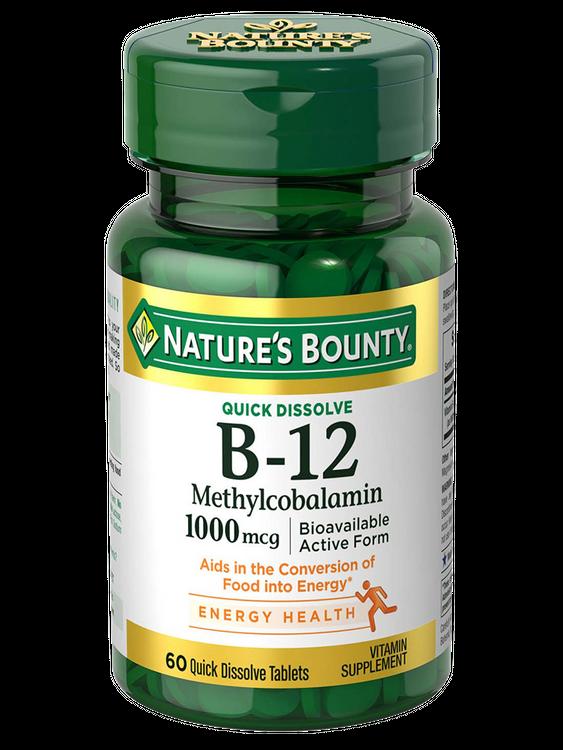 Natures Bounty Vitamin B-12 Methylcobalamin 1,000 mcg 60