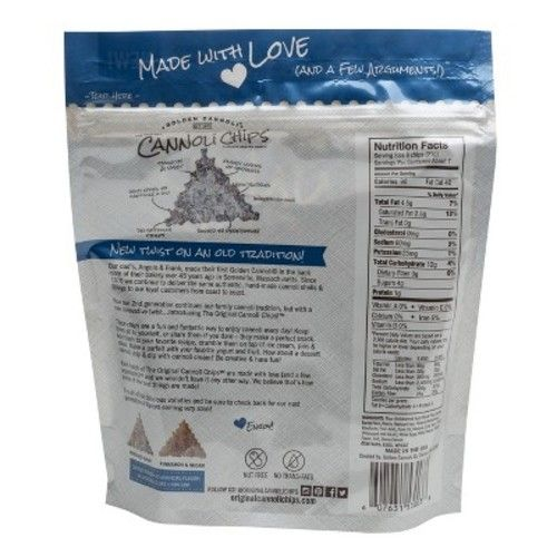 Golden Cannoli Cookies & Cream Cannoli Chips - 5.1oz
