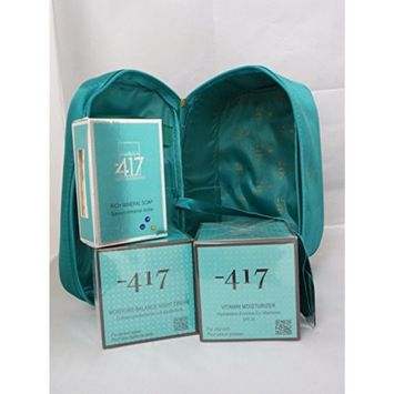-417 Green Diamond Set ( Vitamin Moisturizer (for Oily Skin), Night Cream & Salt Soap): Beauty