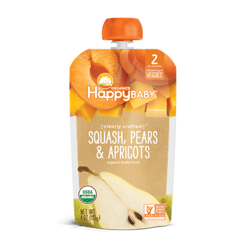 Happy Baby® Organics Clearly Crafted Squash, Pears & Apricots