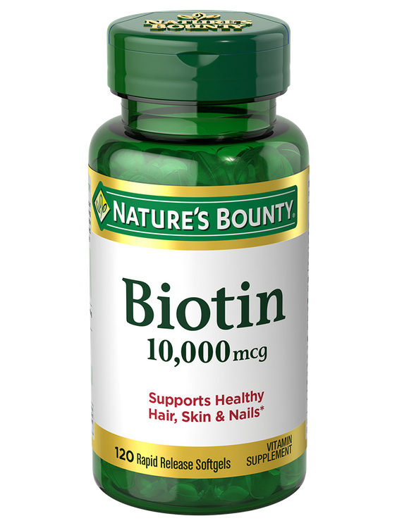 Natures Bounty Biotin 10,000 mcg 120