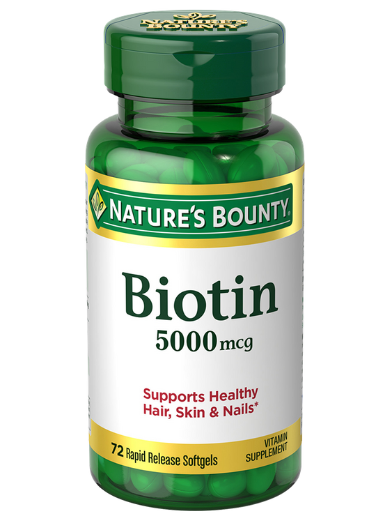 Natures Bounty Biotin 5000 mcg