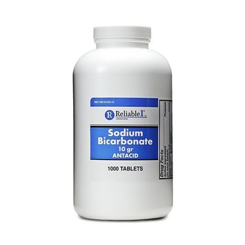 Sodium Bicarbonate 650 mg 1000 Antacid Tablets, for Relief of Acid Indigestion, Heartburn, Sour Stomach & Upset Stomach