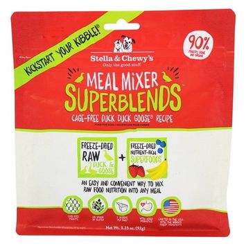 Freeze-Dried Dog Food Meal Mixer SuperBlends Cage-Free Duck & Goose Recipe - 3.25 oz.