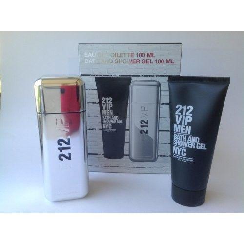 212 VIP by Carolina Herrera for Men Travel/Gift Set 2 PC (3.4 oz EDT + 3.4 oz After Shave)