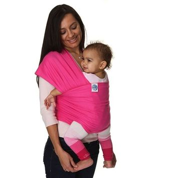 Soft Baby Sling Wrap Carrier Hands Free Pure Cotton/Spandex Suitable for Newborns to 35 lbs Compact and Comfortable Baby Wraps (Hot Pink)