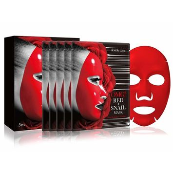 double dare OMG! Red + Snail Mask (5 Sheets)