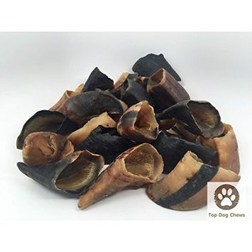 Peanut Butter Filled Cow Hooves for Dogs - Made in The USA Bulk Dog Dental Treats & Dog Chews, American Made (5 Peanut Butter Filled Hooves)