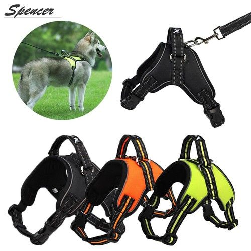 """Spencer No Pull Dog Harness Outdoor Adjustable Pet Vest Reflective Oxford Harness Chest Strap for Dogs with Control Handle for Medium Large Dogs Walking Training """"Black,M"""" [name: size value: size-m(bust:22.2""""-26.5"""",neck:19.1""""-21.8"""")]"""