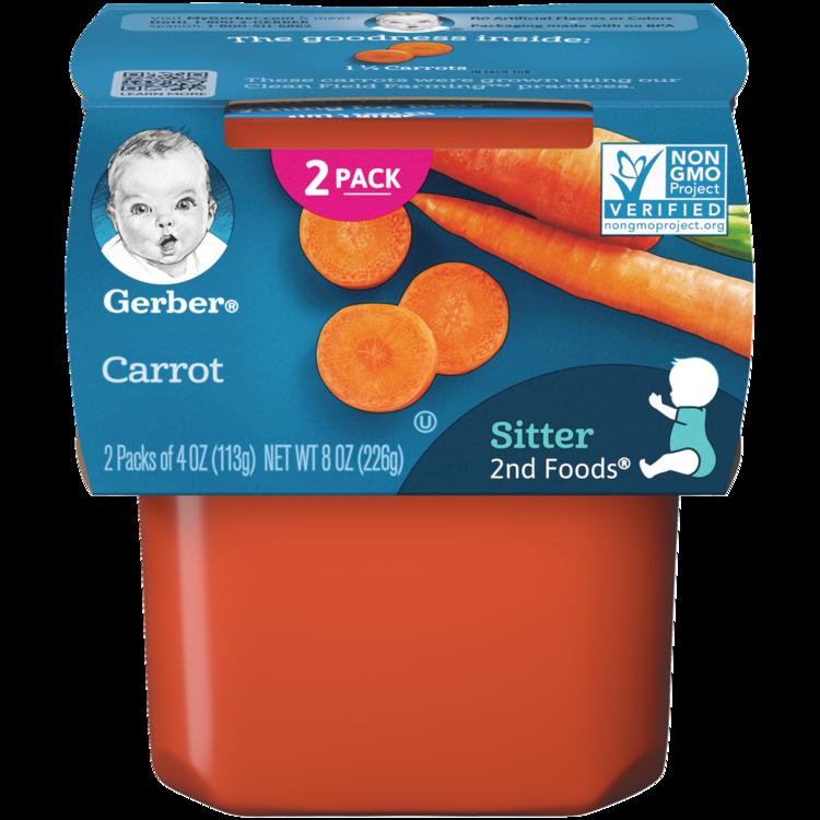 Gerber 2nd Foods Carrot Baby Food - 2ct/4oz