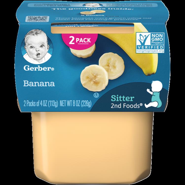 Gerber Sitter 2nd Foods Banana Baby Meals - 2ct/4oz