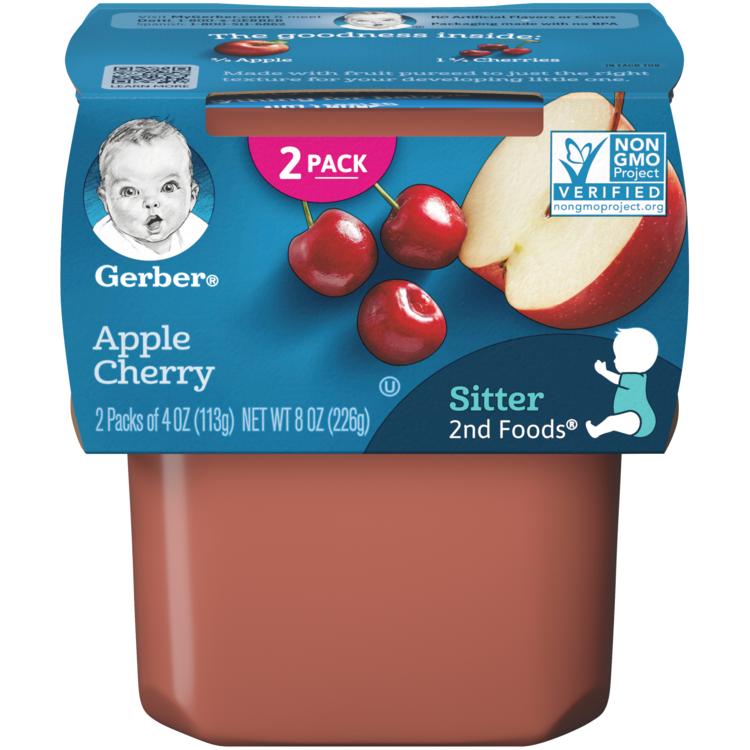 Gerber 2nd Foods® Apple Cherry - 2x4 oz.