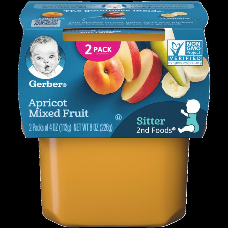Gerber Apricot Mixed Fruit  - 4.0 oz. x 2 pack