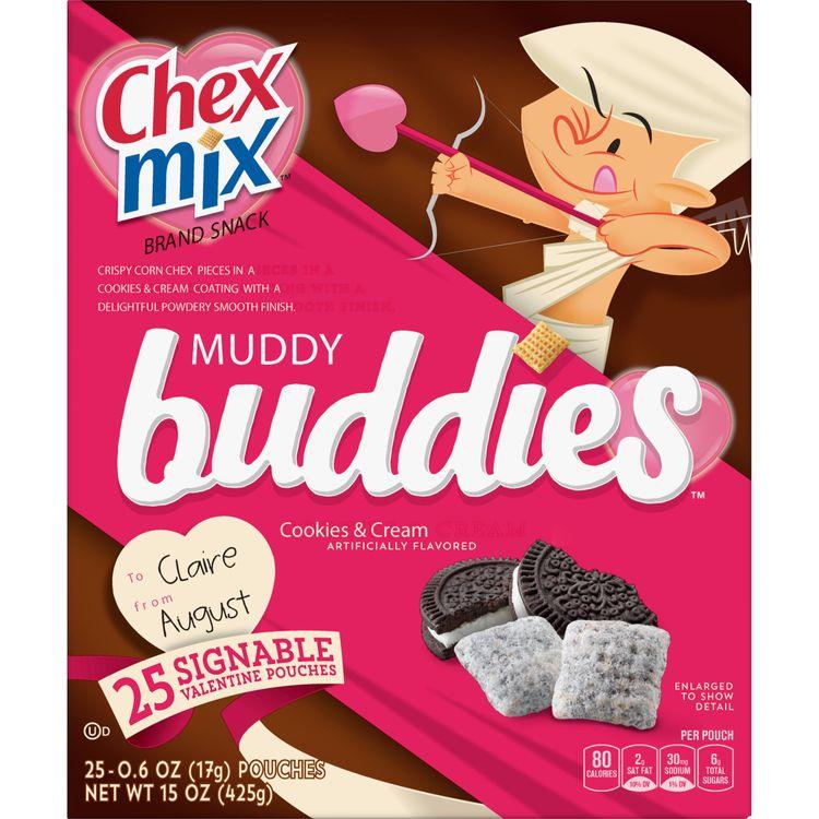 Chex Mix Muddy Buddies Cookies & Cream Valentine's 25ct