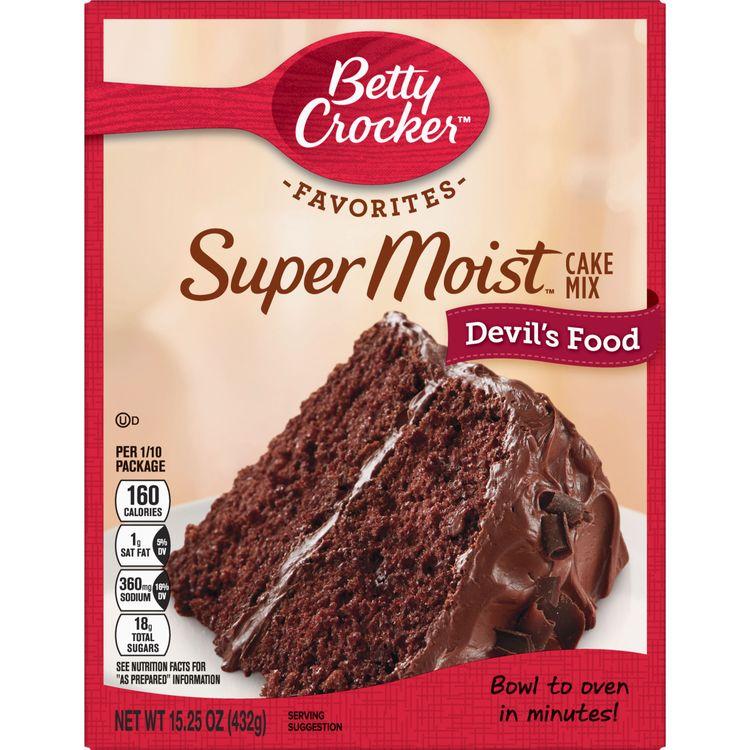 Betty Crocker Super Moist Devil's Food Cake Mix, 15.25 oz