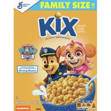 Kix PAW Patrol, Cereal, with Whole Grain, Crispy Corn Puffs, 18 oz