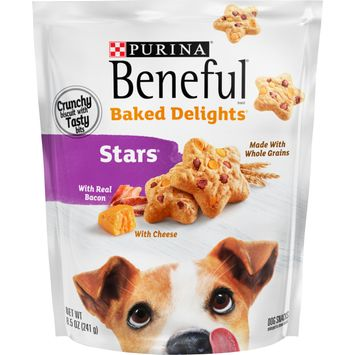 Purina Beneful Baked Delights Stars With Real Bacon and Cheese Dog Treats - 8.5 oz. Pouch