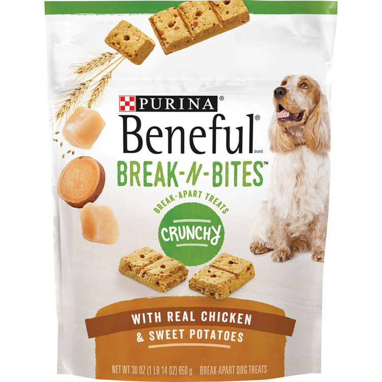 Purina Beneful Break-N-Bites Crunchy With Real Chicken & Sweet Potatoes Dog Treats -