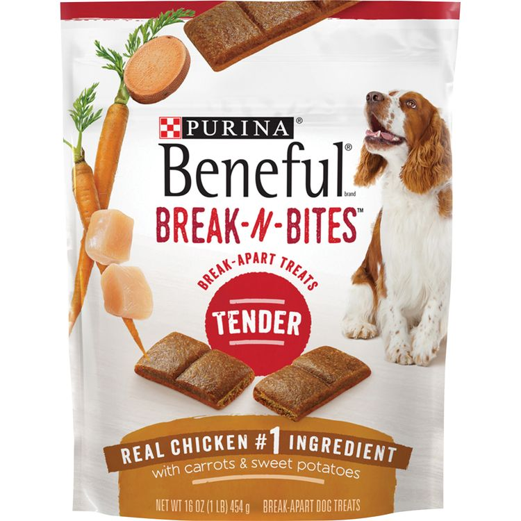 Purina Beneful Break-N-Bites Tender Real Chicken With Carrots & Sweet Potatoes Dog Treats -