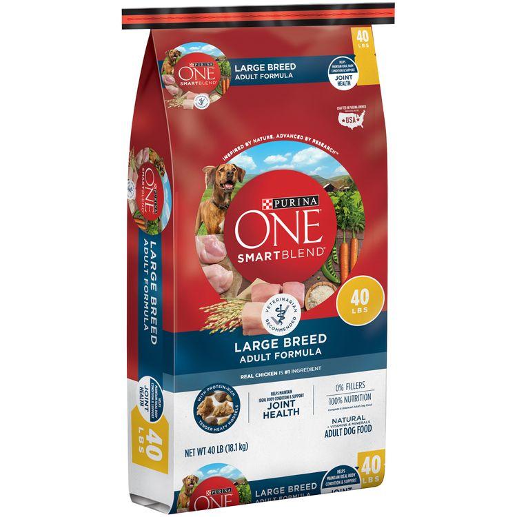 Purina ONE Natural Large Breed Dry Dog Food; SmartBlend Large Breed Adult Formula - 40 lb. Bag