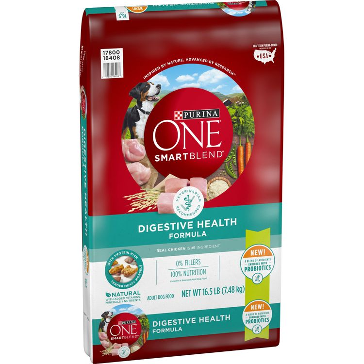 Purina ONE Probiotics, Natural Dry Dog Food; Smartblend Digestive Health Formula