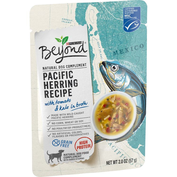 Purina Beyond Grain Free, High Protein Wet Dog Food Complement; Pacific Herring with Tomato & Kale