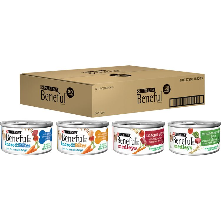 Purina Beneful Wet Dog Food Variety Pack, Incredibites & Medleys