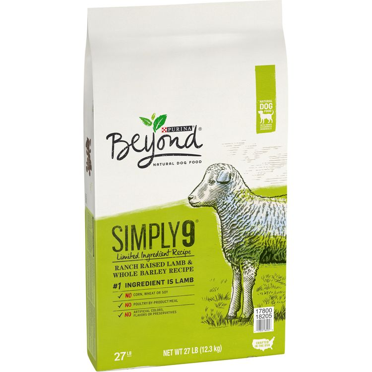 Purina Beyond Limited Ingredient, Natural Dry Dog Food, Simply 9 Ranch Raised Lamb & Barley Recipe