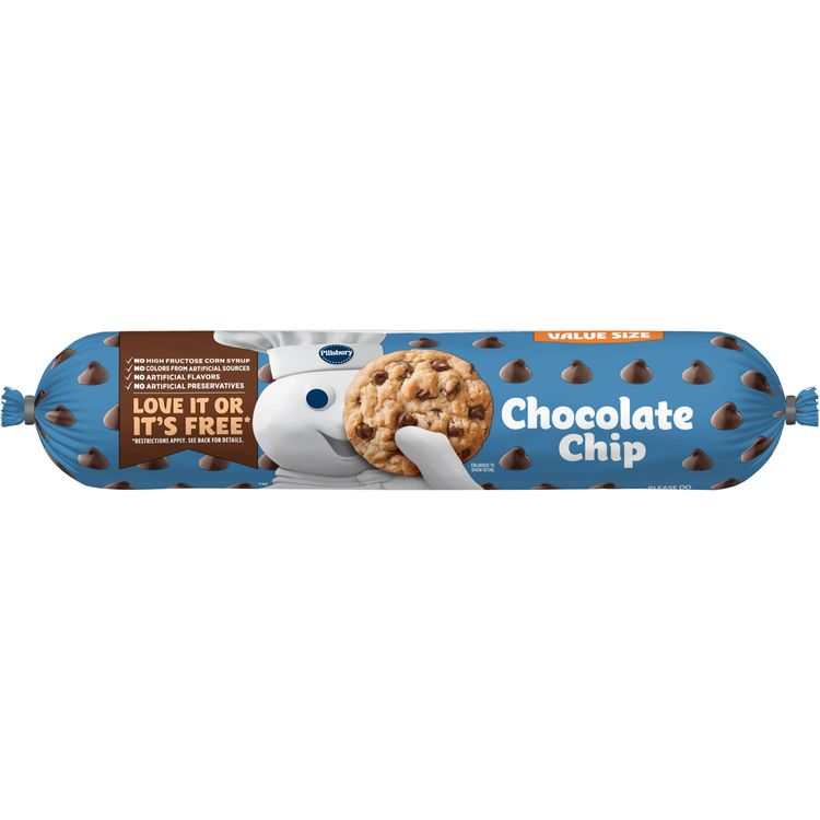 Pillsbury Chocolate Chip Cookie Dough Value Size, 30 oz