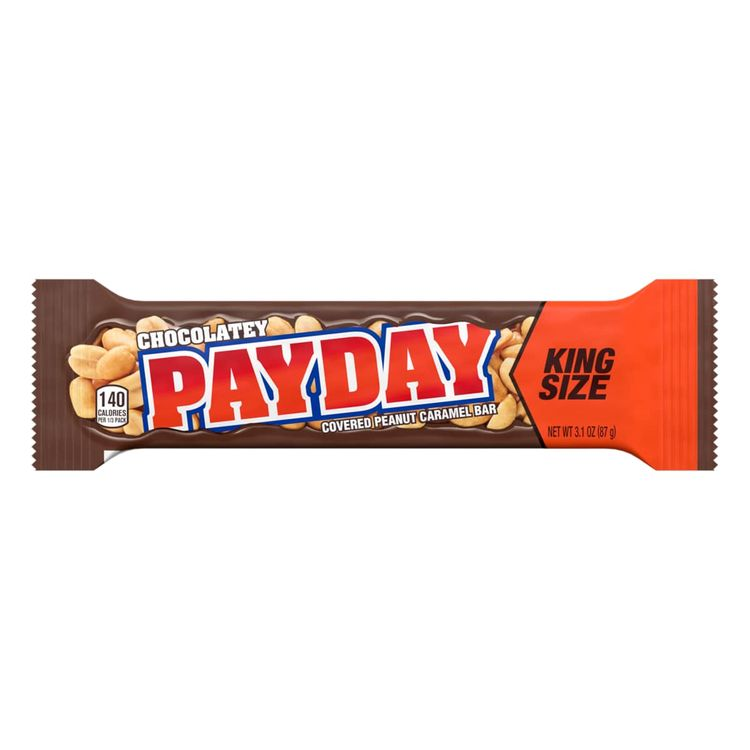 Payday Chocolatey Covered Peanut And Caramel King Size Candy Bar, 3.1 Oz