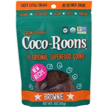Sejoyia Foods, Coco-Roons, Chewy Cookie Bites, Brownie, 3 oz (85 g) [Flavor : Brownie]