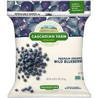 Cascadian Farm Premium Organic Wild Blueberries, 64 oz