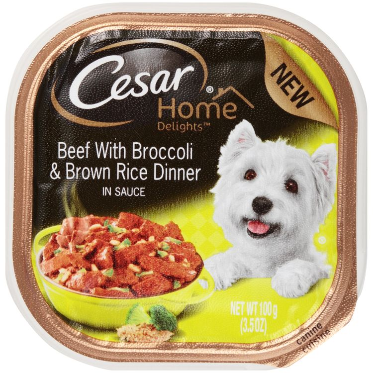 Cesar® Home Delights™ Canine Cuisine Beef with Broccoli & Brown Rice Dinner in Sauce Wet Dog Food
