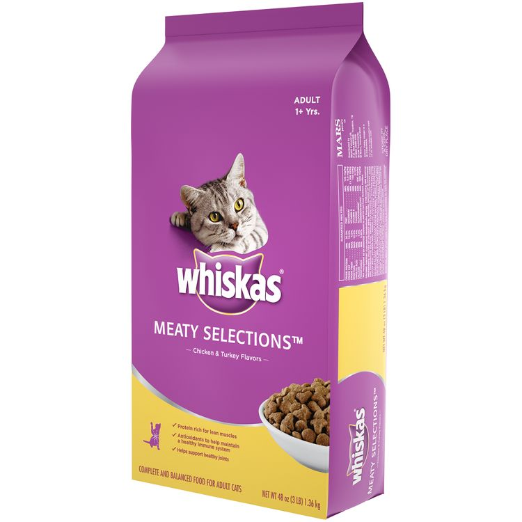 Whiskas® Meaty Selections™ Chicken & Turkey Flavors Adult Cat Food
