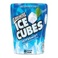 ICE BREAKERS ICE CUBES Peppermint Gum, 40-Piece Bottle Packs