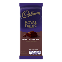Cadbury Royal Dark Dark Chocolate Bar, 3.5 Oz