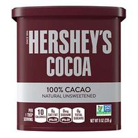Hershey'S Cocoa 100% Natural Unsweetened Cacao, 8 Oz