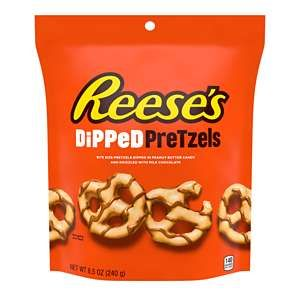 REESE'S DiPPeD PreTzels Milk Chocolate Peanut Butter Snack
