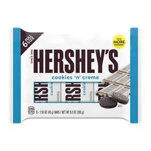 Hershey'S Cookies 'N' Creme Bars 6-Pack, 9.3 Oz